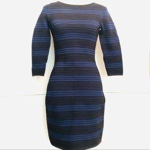 Ralph Lauren Black Navy Stripe Dress NWT